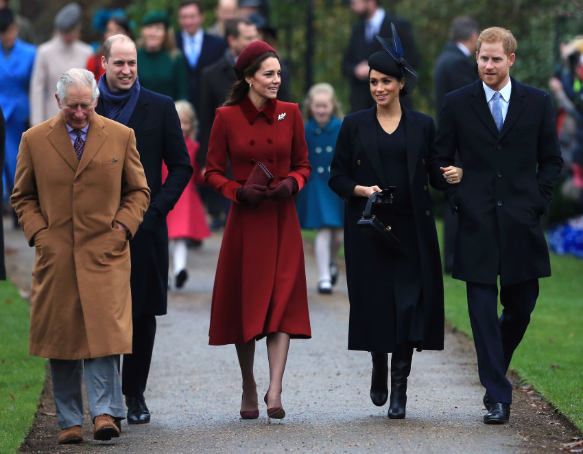מי אמר סכסוך?הנסיך הארי, מייגן מרקל, קייט מידלטון, הנסיך וויליאם וצ'ארלס (צילומים:L גטי)