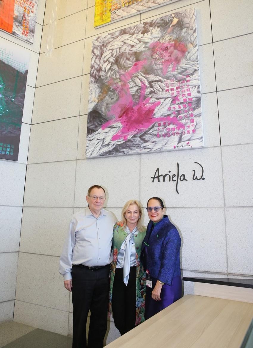 אסתי גולן, אריאלה ורטהימר ורפי ביאר (צילום: פיוטר פליטר)