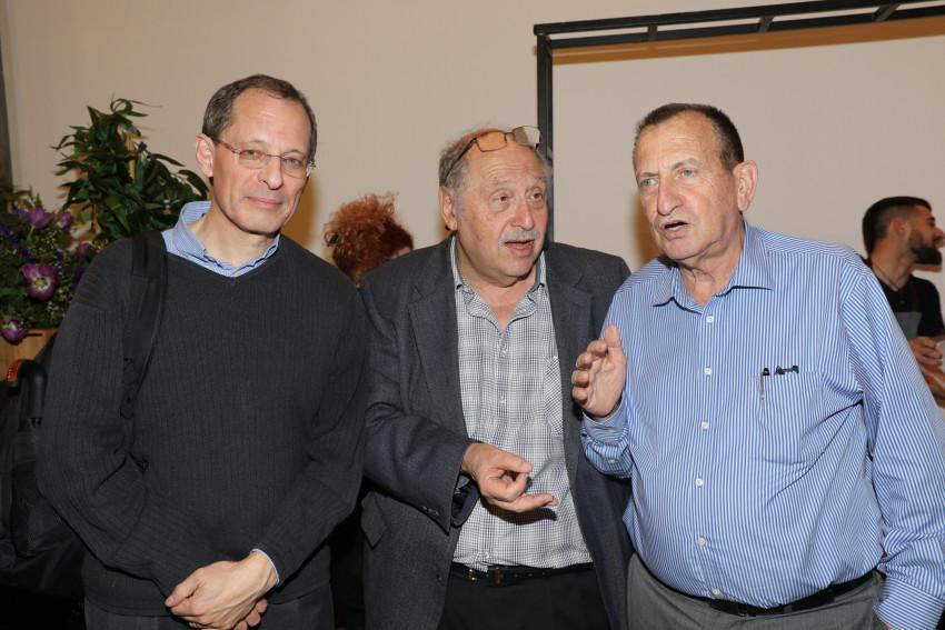 רון חולדאי, יוסי ורדי ויוג'ין קנדל (צילום: רפי דלויה)