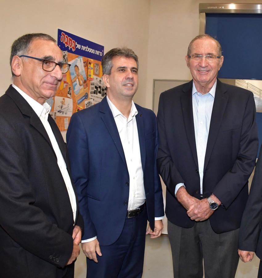 דן פרופר, אלי כהן ומאיר אימבר (צילום: אביב חופי)