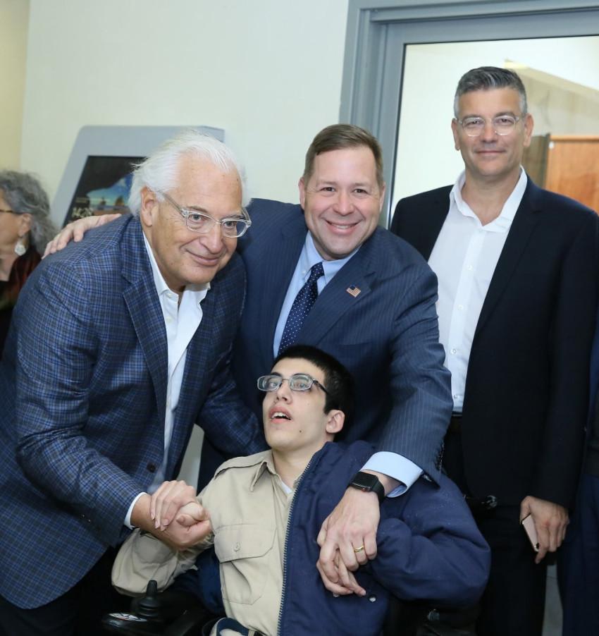 ישראל רייף, דיוויד פרידמן, כריס נילי ורועי שיפמן (צילום: רחל זנד)