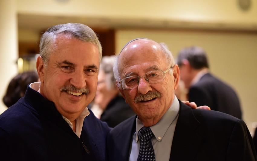 דוד בלומברג ותומס פרידמן (צילום: יוני קלברמן)