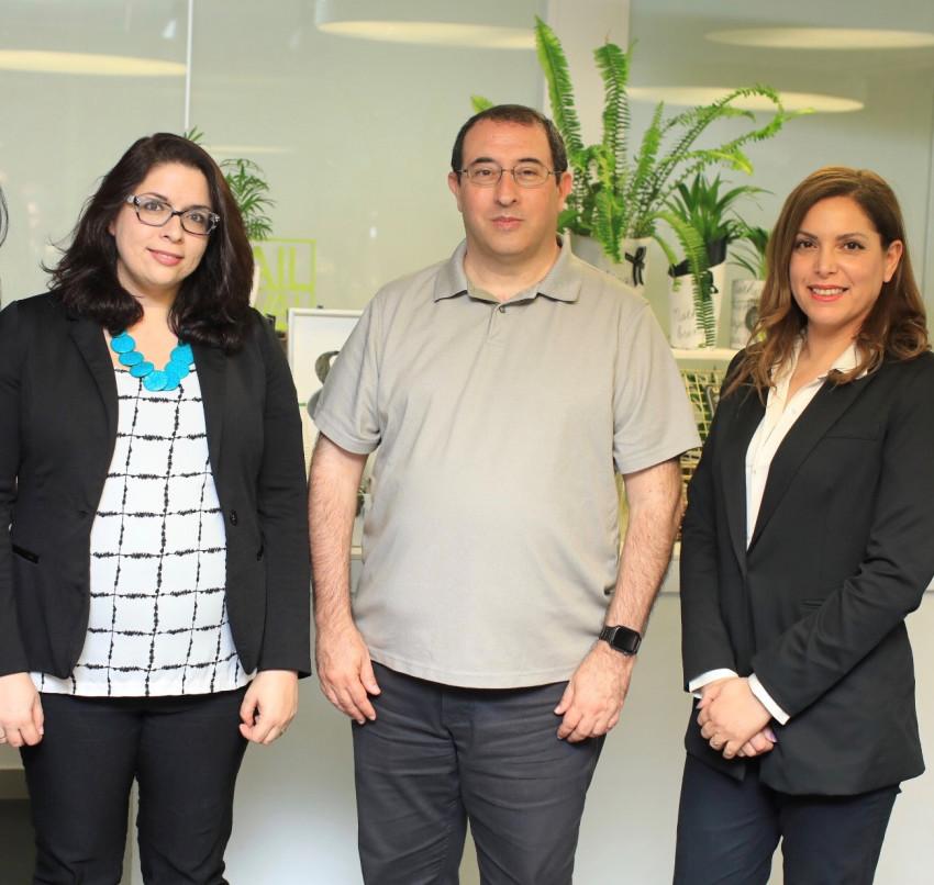 עינב אהרוני יונס, מוטי אליאב ואלה בר דוד (צילום: משה מזרחי)