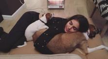 שלומית מלכה עם הכלבים