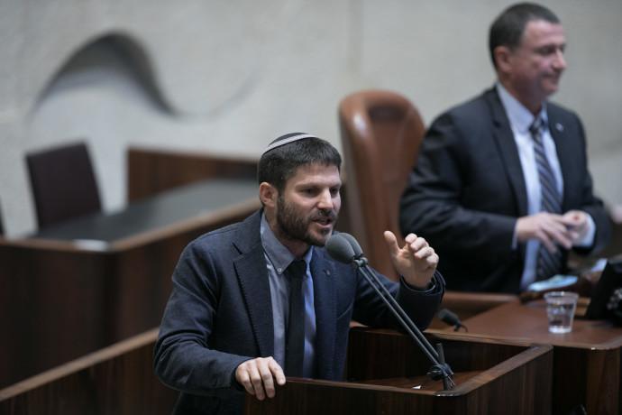בצלאל סמוטריץ' בעת ההצבעה על חוק ההסדרה. צילום: יונתן סינדל, פלאש 90