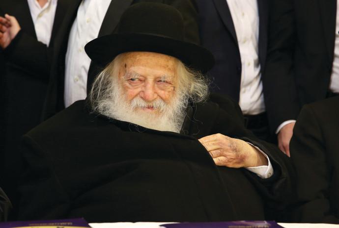הרב קנייבסקי. צילום: יעקב כהן, פלאש 90