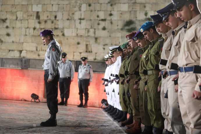 יום הזיכרון לחללי מערכות ישראל בכותל. צילום: מרק ישראל סלם
