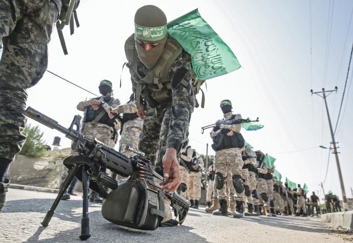 פעילי חמאס ברצועת עזה. צילום: SAID KHATIB/AFP,gettyimages