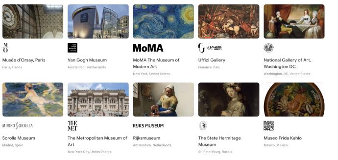 Google Arts & Culture. צילום מסך