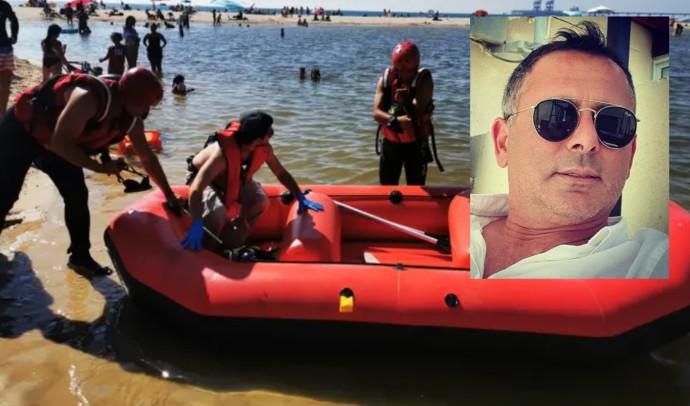 אירוע הטביעה סמוך לזיקים (בתמונה הקטנה: מיכאל זיקרי שהציל את המשפחה). צילום: תיעוד מבצעי כבאות והצלה