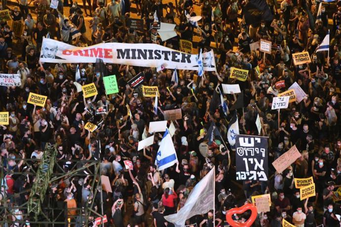 מחאת העצמאים. צילום: אבשלום ששוני