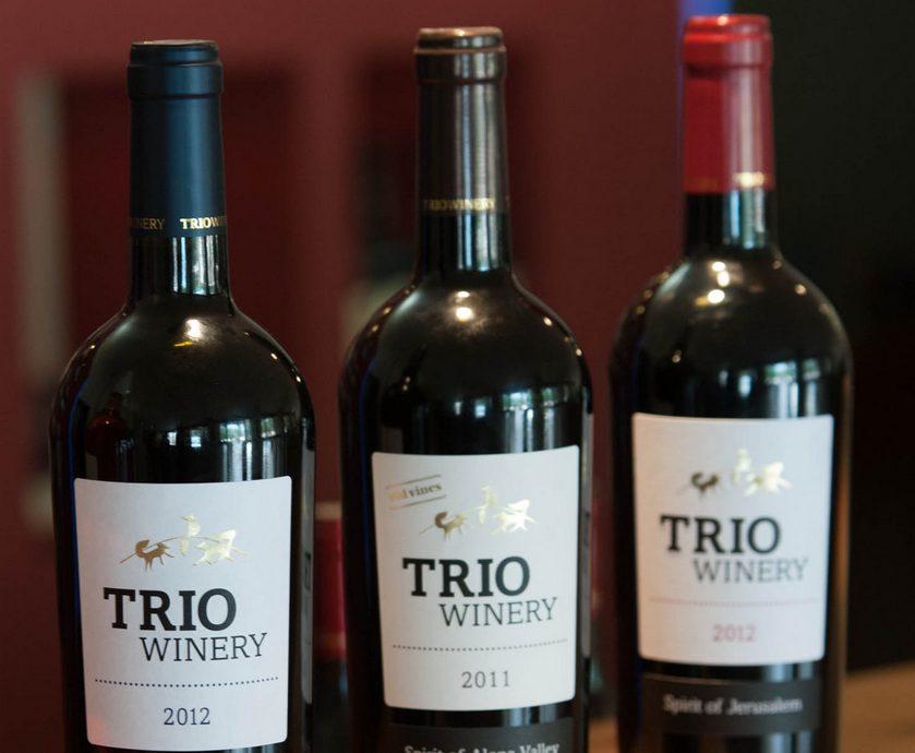 """היינות של טריו, שנעשו בבצירים 2012-2014 על-ידי היינן יותם שרון, הם יינות מעניינים... (צילומים: יח""""צ)"""