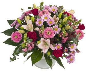זר פרחים -רומנטיקה