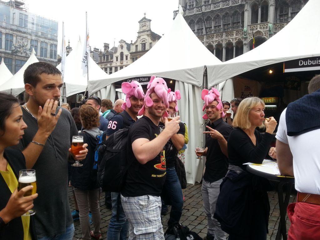 פסטיבל בירה בבריסל - אווירה ב - צילום גדי דבירי