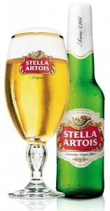 בירה סטלה ארטואה - כוס ובקבוק
