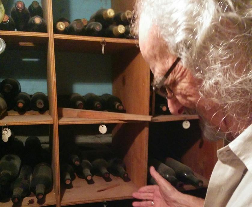 שאטו לאטיף - כל היין מופק מאותה הגפן המשתרעת מהגן בקומת הקרקע ועד למרפסת שבקומה השלישית... (צילום: צחי ימין)